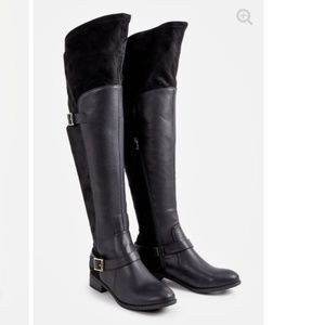 Justfab over the knee tall black boots